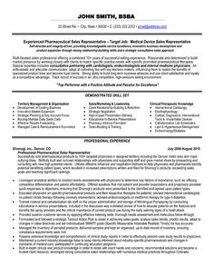 resume examples for outside sales representatives - Professional Sales Resume