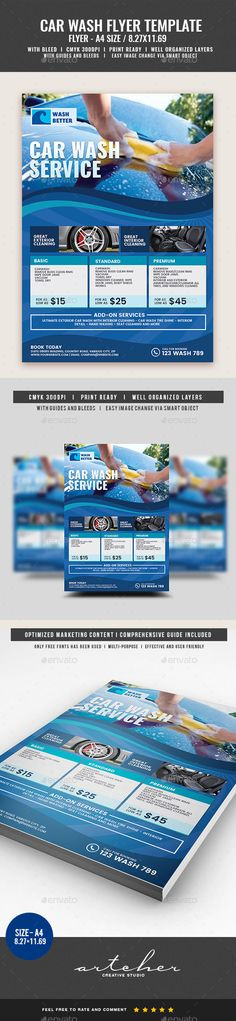 Car Wash Flyer Template 01 Cars, Flyer template and Flyers - car wash flyer template