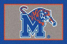 Middle Tennessee Blue Raiders Team Logo Area Rug Ncaa