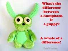 cute & clean humpback whale &  fish joke for children featuring