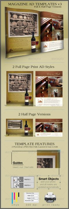 1000+ images about Print Ad Templates on Pinterest | Magazine ads, Print ads and Flyers