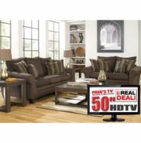 """Blair Power Reclining Leather Sofa, Loveseat & 32"""" TV from ..."""
