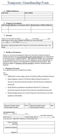 Free Downloadable Durable General Power of Attorney Form Last - temporary guardianship form