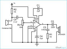 channel audio mixer circuit using lm3900 simple schematic diagram