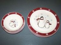 Royal Seasons Snowman Stoneware Christmas Holiday ...