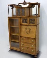 Oak Secretary Desk and Bookcase, Side by Side | Hubby to ...