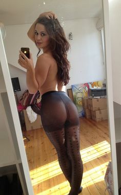pantyhose leg selfie