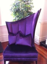 Old School gothic, tufted, purple chair and a half.   My ...