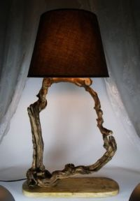 Luxurious Lamp, Driftwood Lamp, Reclaimed Wood Lamp ...