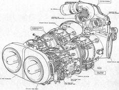 tf33 engine diagram