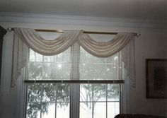 Double Scarf Swag Window Valance Ideas