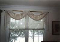 Double Scarf Swag Window Valance Ideas | Fabrics, Window ...