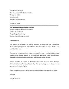 How To Write A Resignation Letter The Muse 1000 Images About Announcements Letters On Pinterest