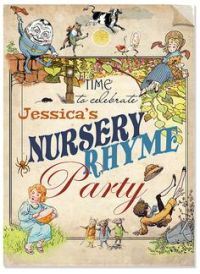 Mother Goose Nursery Rhymes Customizable Baby Shower Party ...