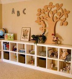 make wooden garage shelf