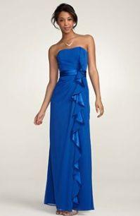 David's Bridal Horizon Blue - Chiffon Color Reference ...