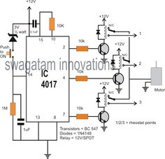 10 step relay selector switch circuit electronic circuit projects