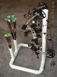 Pvc recurve bow stand with arrow holder.   Archery ...