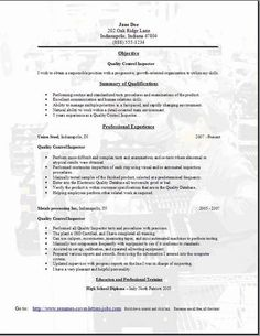 Electronic Assembler Resume Sample | Back Out Letter For House