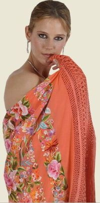 Embroidered & Crocheted Spanish shawl | FASHION2 (THEN ...