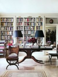 library/dining room combo on Pinterest | Libraries, Dining ...