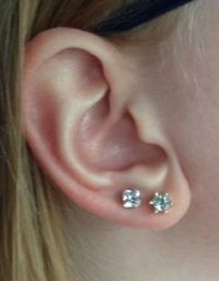 Pics For > Small Earrings For Second Hole