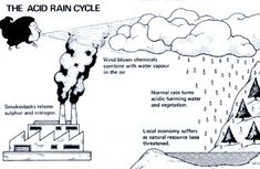diagram acid rain