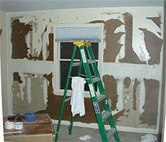 How to repair drywall damaged from wallpaper removal | More Drywall ideas