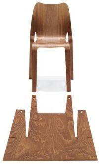 Timothy Schreiber - Plooop Plooop chair in CNC-cut plywood ...