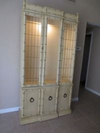 Chinese Chippendale Faux Bamboo China Cabinet/Hutch ...