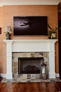 tv above fireplace on Pinterest | Fireplaces, Property Brothers and Tv