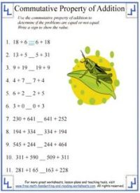 Properties of Addition Worksheet 2 - Identity   Addition ...