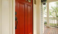 Painted front door..