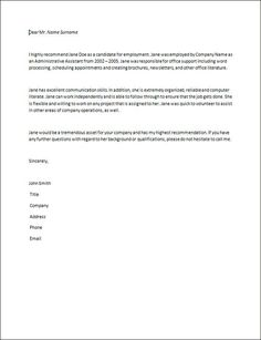 Resignation Letter Samples American Recruiters Example Of Recommendation Letter For Colleague Sample