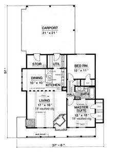 Open floor plan small example of open concept barn home
