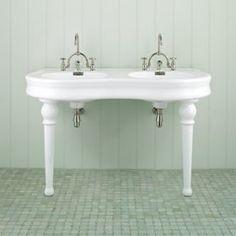 Parisian Pedestal Double Sink Console Potterybarn Love