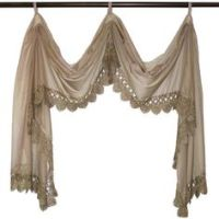 Double Scarf Swag Window Valance Ideas