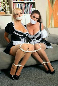 french maid bending over