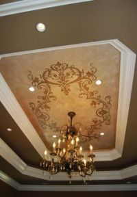 1000+ images about Ceilings on Pinterest | Stencils, Tray ...