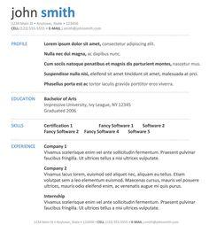 30 Basic Resume Templates Hloom 1000 Images About Career On Pinterest Resume Resume