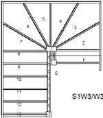 Trade Range S3W3W33N Winder Staircase L/H No Handrails ...