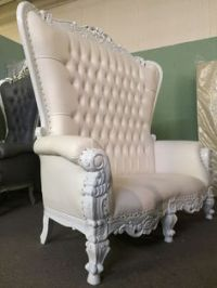 6 Ft. Tall Throne Chair French Baroque Wedding Bride Groom ...