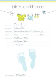 Baby Prints - Download and print a unique Certified Baby Prints . Use our free template ...