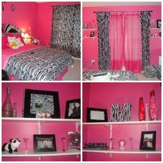 Zebra bedroom decorating ideas on a budget teenage girl