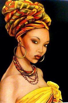 latina woman art