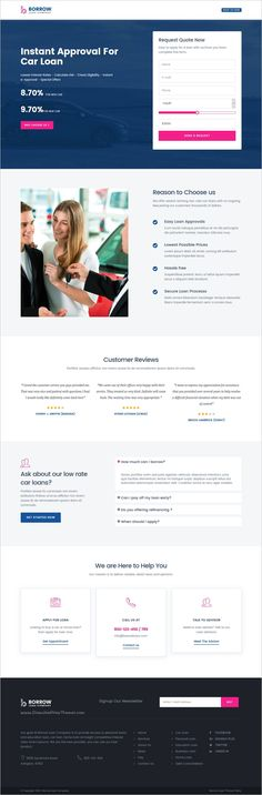 Borrow - Loan Company Responsive Website Templates  Are you small - loan templates