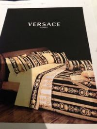 black satin comforter | VERSACE BEDDING SET SATIN MEDUSA ...