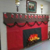 Classroom fireplace! | Door decorations | Pinterest ...