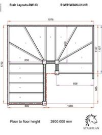 Winder Stair Drawings | Staircases to order online 180 ...
