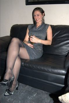 cougar in heels and lace
